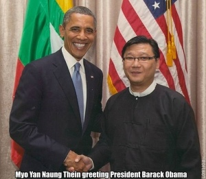 Director of BAYDA Institute, Myo Yan Naung Thein of Burma and President of US, Barack Obama