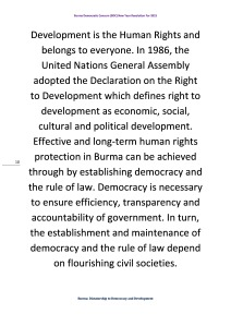 Burma Democratic Concern (BDC) New Year Resolution For 2015 (10)