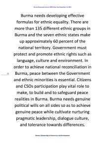Burma Democratic Concern (BDC) New Year Resolution For 2015 (12)