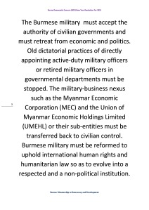 Burma Democratic Concern (BDC) New Year Resolution For 2015 (3)