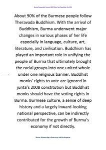 Burma Democratic Concern (BDC) New Year Resolution For 2015 (7)