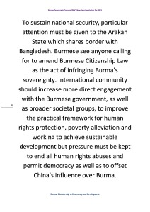 Burma Democratic Concern (BDC) New Year Resolution For 2015 (8)
