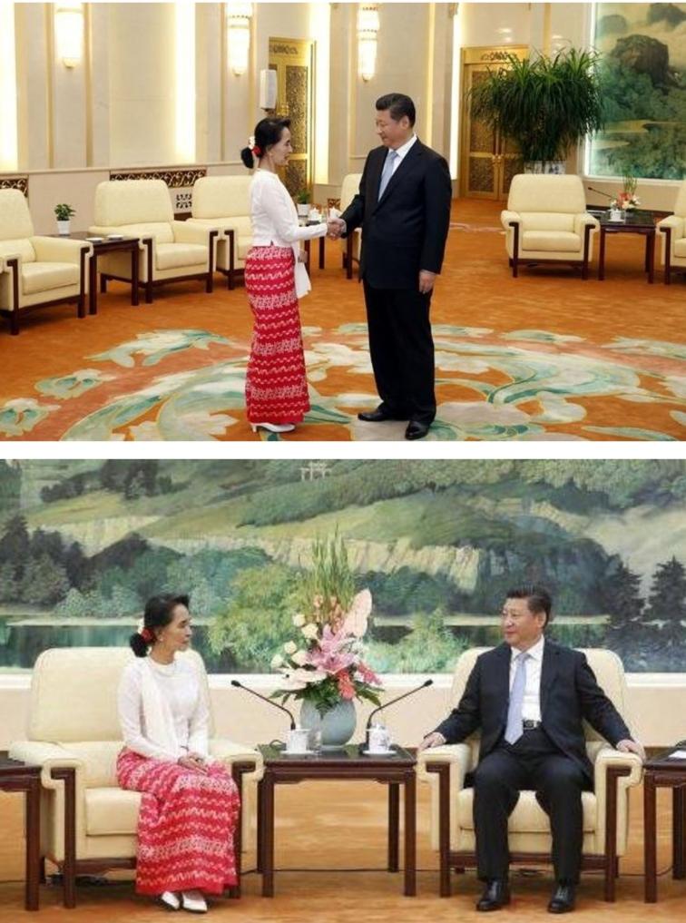 Daw Aung San Suu Kyi meeting Chinese President